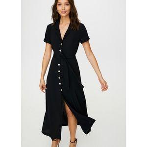 Aritzia Button Front Shirt Dress